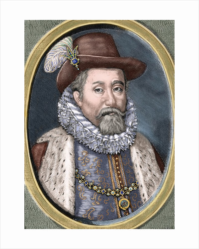 James VI and I (1566-1625). King of Scots as James VI and king of England and Ireland as James I by Corbis
