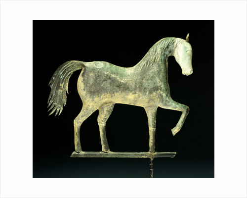 A molded copper and cast zinc horse weathervane by Corbis