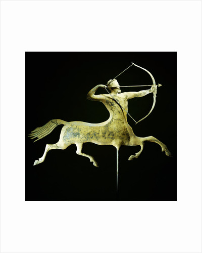 A fine and rare molded and gilt copper weathervane attributed to A by Corbis
