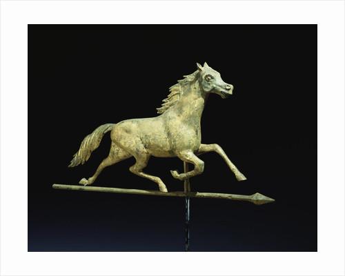 Galloping horse weathervane by Corbis