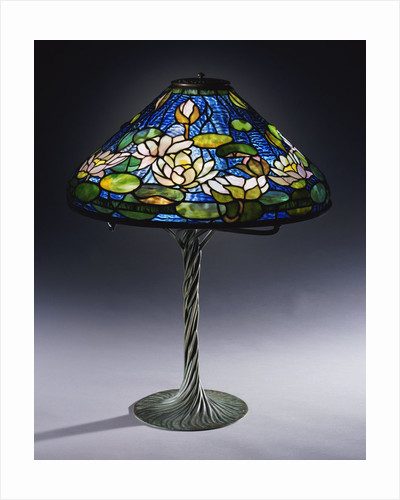 Tiffany Studios 'Pond Lily' leaded glass & bronze table lamp by Corbis