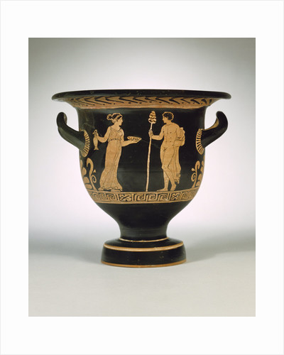 An Apulian red-figure bell krater attributed to the Painter of the Long Overalls by Corbis