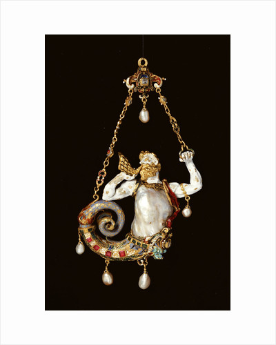 A jewel formed as a merman blowing a conch by Corbis