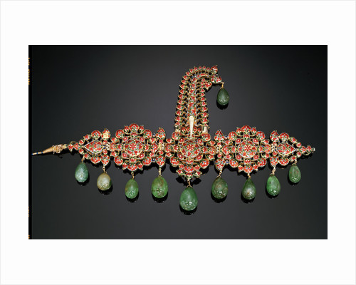 North Indian diamond, emerald and enamel sarpech by Corbis