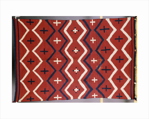A late classic Navajo wearing blanket by Corbis