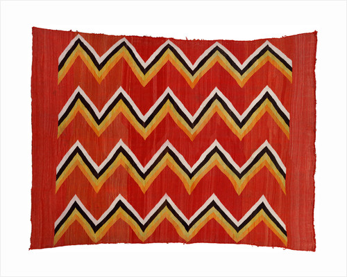 A Navajo transitional wedgeweave blanket by Corbis