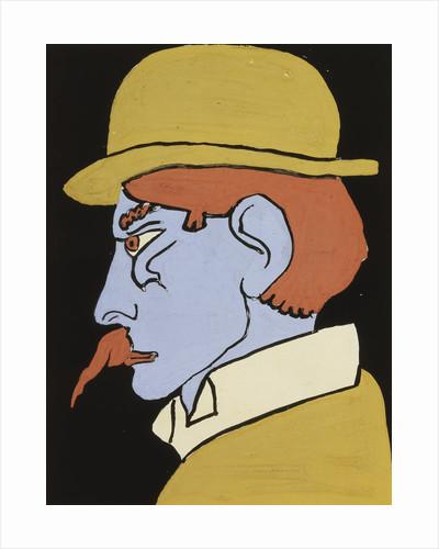 Man with Moustache, Profile by Henri Gaudier-Brzeska
