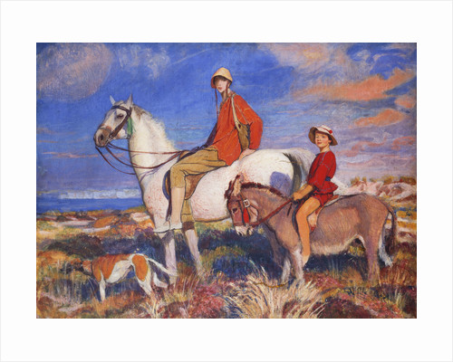Hilda and Mary at Studland Bay, Dorset by George Spencer Watson