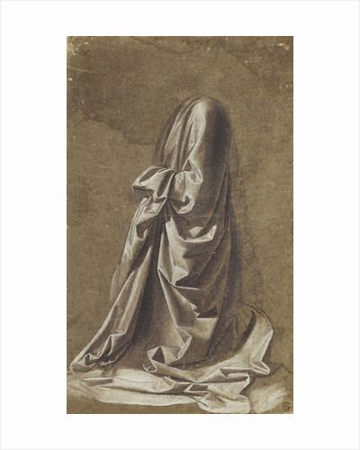 Drapery study for a kneeling figure by Leonardo da Vinci