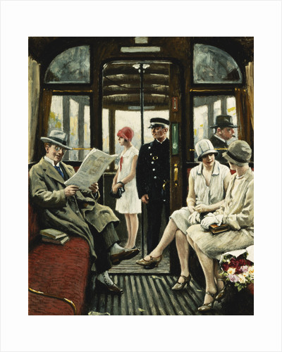 On the Tram by Paul Fischer