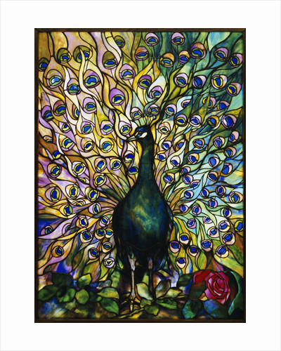 Tiffany Studios 'Peacock' leaded glass domestic window by Corbis