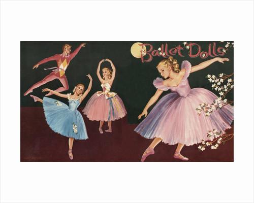 Vintage set of ballet paper dolls by Corbis