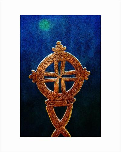Gold Ethiopian cross by Corbis