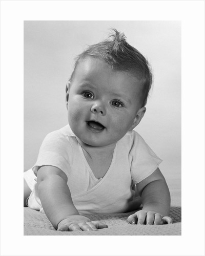 1950s Crawling Happy Curious Baby by Corbis