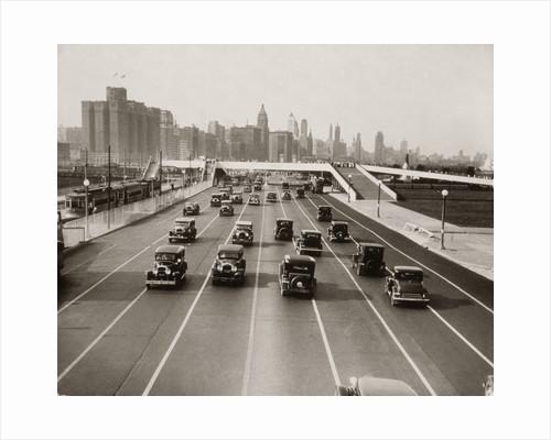 1930s Automobile Traffic Chicago Illinois Usa by Corbis