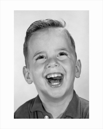 1960s Boy Laughing by Corbis