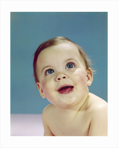 1960s Portrait Happy Smiling Baby Looking Up by Corbis