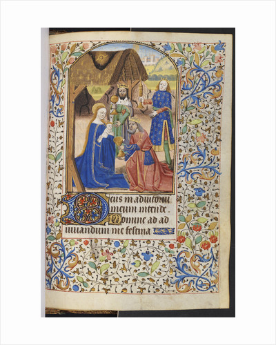 Adoration of the Magi from a French illuminated manuscript by Corbis