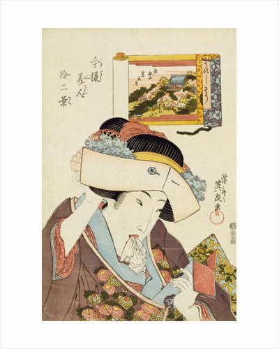 The Joyful Type by Keisai Eisen from the series Imayo bijin junikei (Twelve scenes of modern beauties) by Corbis