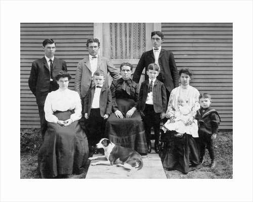 Wisconsin farm family gathers for a portrait, ca. 1905 by Corbis