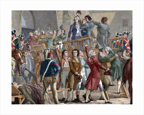 French Revolution (1789). The Girondists out of jail to go to the gallows by Corbis