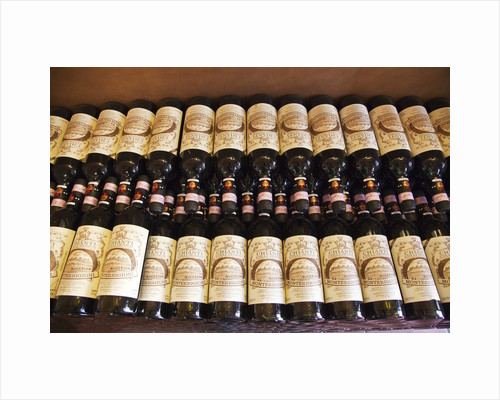 Bottles of Tuscan Wine ready for sale by Corbis