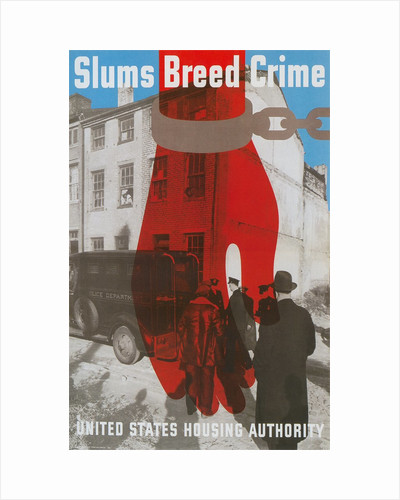 Slums Breed Crime, US Housing Authority Poster by Corbis
