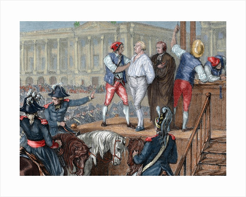 French Revolution. Execution of King Louis XVI (1754-1793) by Corbis