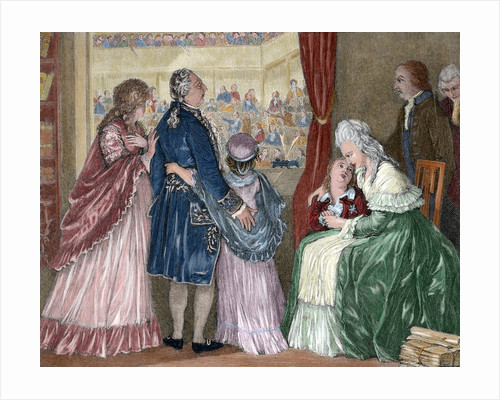 French Revolution (1789-1799). The royal family took refuge in the Assembly by Corbis