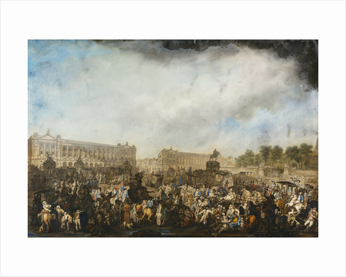 The Return of Louis XVI to Paris, 6 October 1789 by Attributed to Robert Dighton the Elder by Corbis