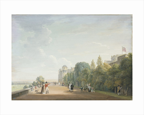 Windsor Castle: the North Terrace Looking East, with Elegant Figures by Paul Sandby