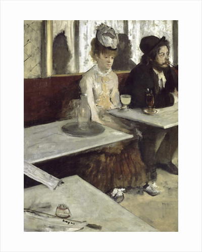 Dans un café, dit aussi l'Absinthe (In a Café, also called Absinthe) by Edgar Degas