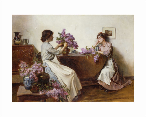 Arranging the Lilac by Albert Chevallier Tayler