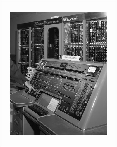1950s control panel of Remington Rand Univac computer by Corbis