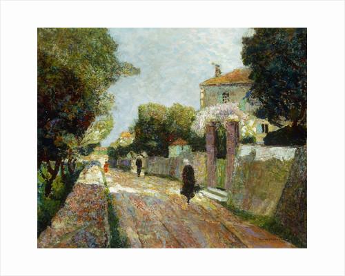 Sunny Village Street; Rue de Village Ensoleillee by Victor Charreton