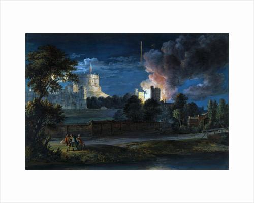 Windsor Castle from Datchet Lane on a Rejoicing Night by Paul Sandby