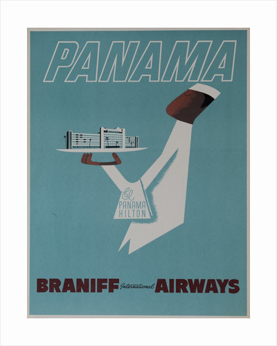 Braniff Airways Travel Poster Panama by Corbis