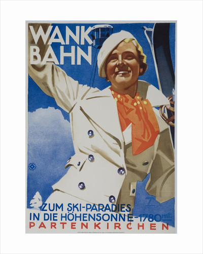 Wank Bahn, German Ski Travel Poster by Corbis