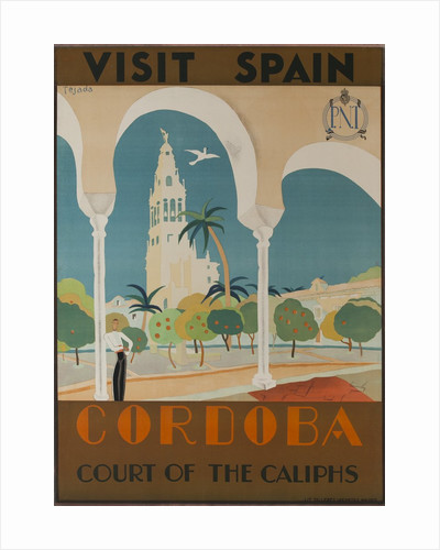 Visit Spain, Cordoba Court of the Caliphs Spanish Travel Poster by Corbis