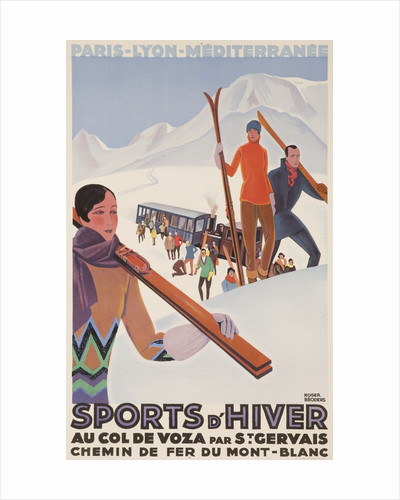 Sports d'Hiver, French PLM Ski Poster by Corbis