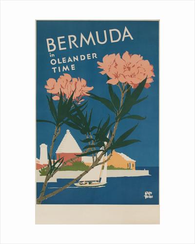Bermuda in Oleander Time, Travel poster by Corbis