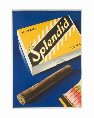 Splendid Cigar, Swiss Advertising Poster by Corbis