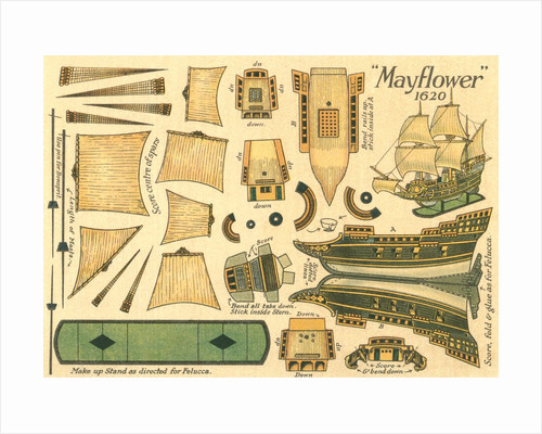 Cut-Out Model of the Mayflower by Corbis