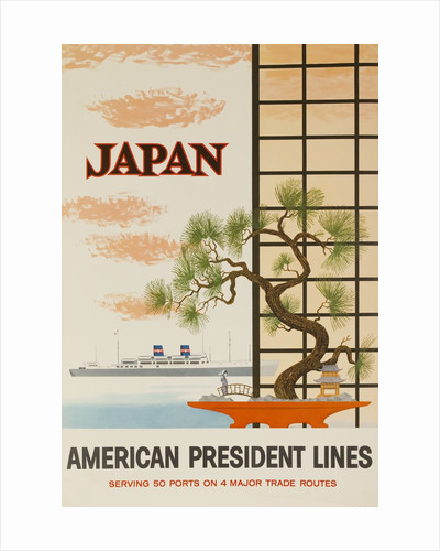 Japan American President Lines Cruise Poster by Corbis
