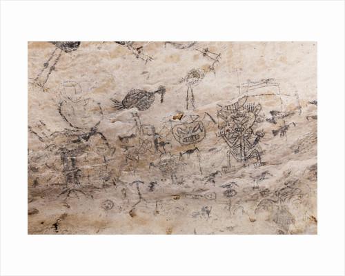 Pre-Columbian Rock paintings inside La Linea Limestone Cave, Dominican Republic by Corbis