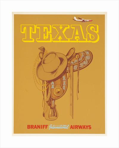 Braniff International Airways Travel Poster Texas Saddle by Corbis