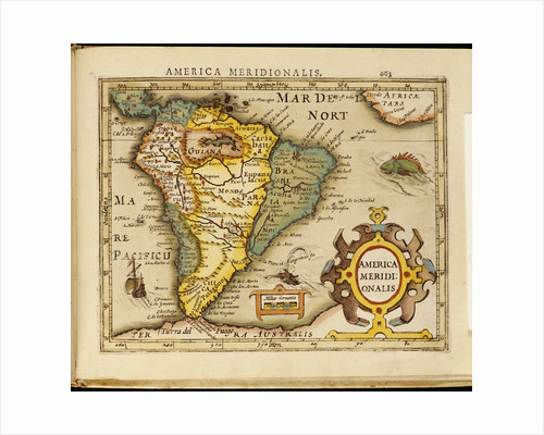 America Meridionalis - A map of South America by Corbis
