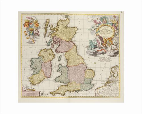 Britanniae Tabula by Pieter Schenk