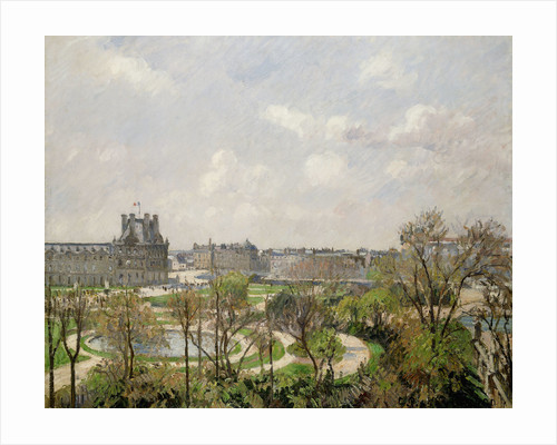 Jardin des Tuileries, Spring Morning by Camille Pissarro
