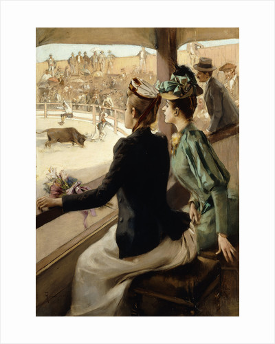 At the Bullfight by Albert Lynch